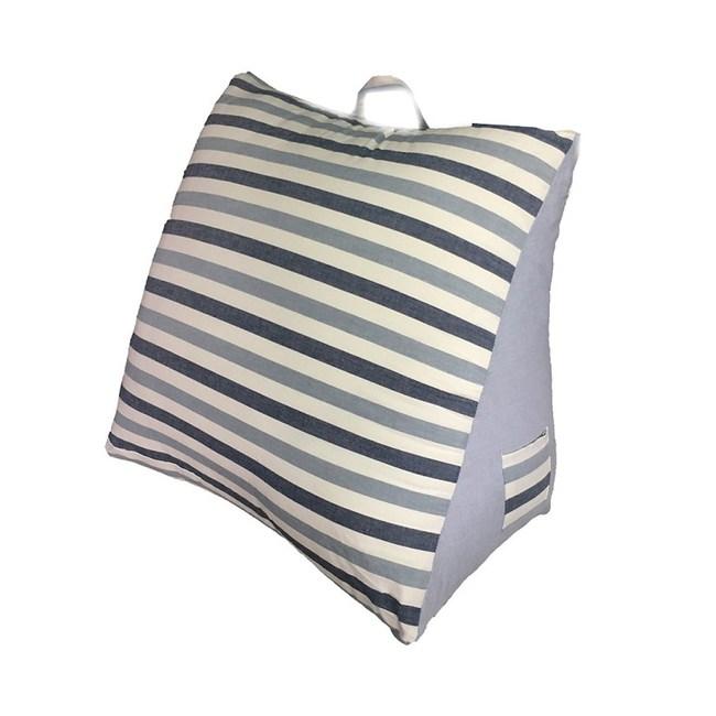水洗棉條紋三角大靠墊