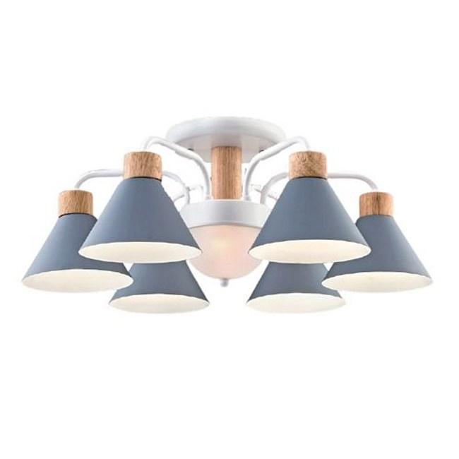 【YPHOME】特價北歐風半吸頂6燈 簡易更換燈泡