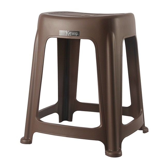 KEYWAY 花園止滑椅(高47CM) 咖啡色款 RC6683 39.9x36.3x47cm