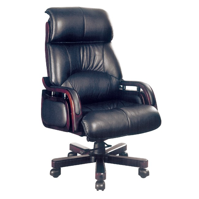 【YFS】雷思麗黃牛皮升降辦公椅-70x70x132cm