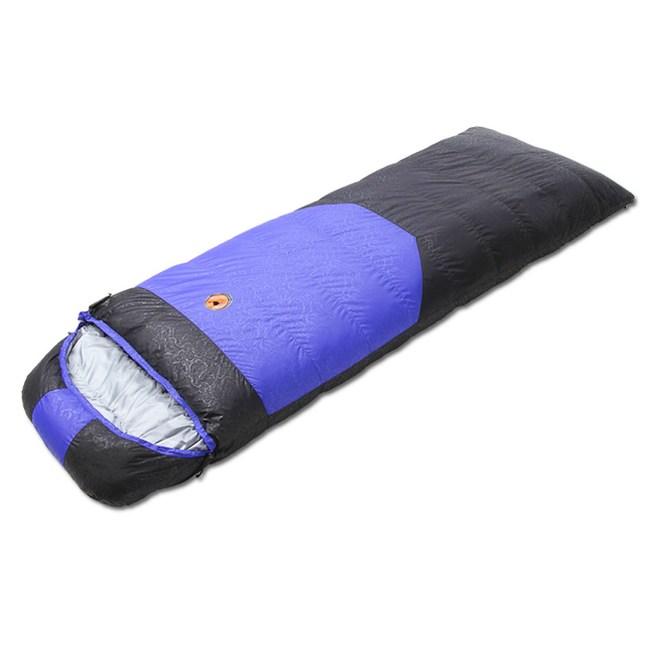 【PUSH!登山戶外用品】800G白鴨絨可拼接羽絨睡袋藍色P78-2