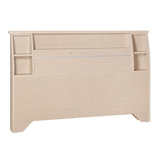 【YFS】路德6尺洗白床頭片-185x12x101cm
