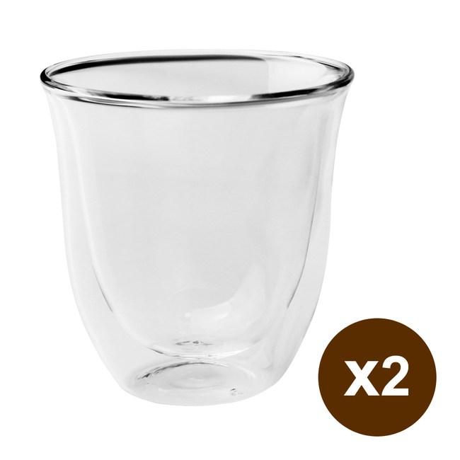 台灣紅琉璃 雙層玻璃杯(圓弧,250ml) 2入組