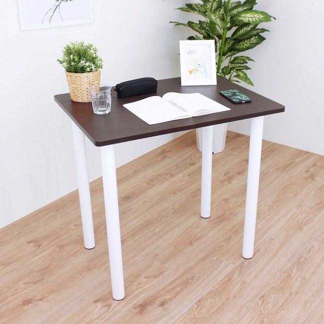 【頂堅】中型書桌/餐桌/洽談桌-寬80x深60x高75公分-三色可選深胡桃木色