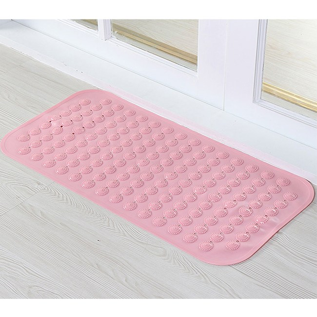 【三房兩廳】無味吸盤浴室止滑防滑墊/地墊/踏墊(粉色4入)