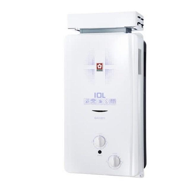(含標準安裝)櫻花ABS式屋外型熱水器GH-1021桶裝瓦斯