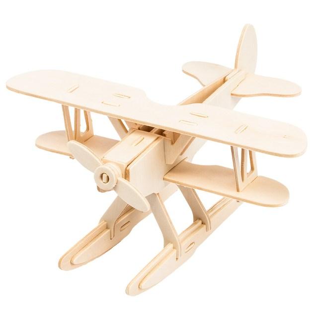 木質拼圖系列-小小飛機 JP209