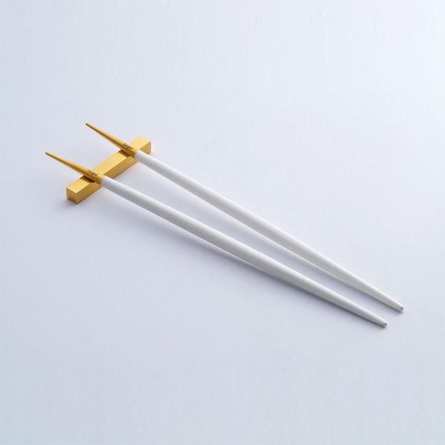 Cutipol GOA WHITE MATT GOLD 筷子組