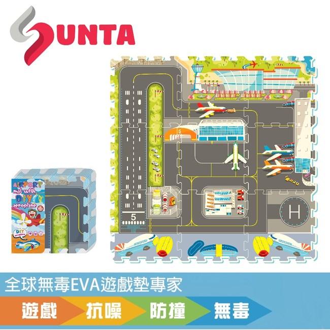 【SUNTA拼接EVA樂扣墊】國際機場32*32*1cm(9片/組)