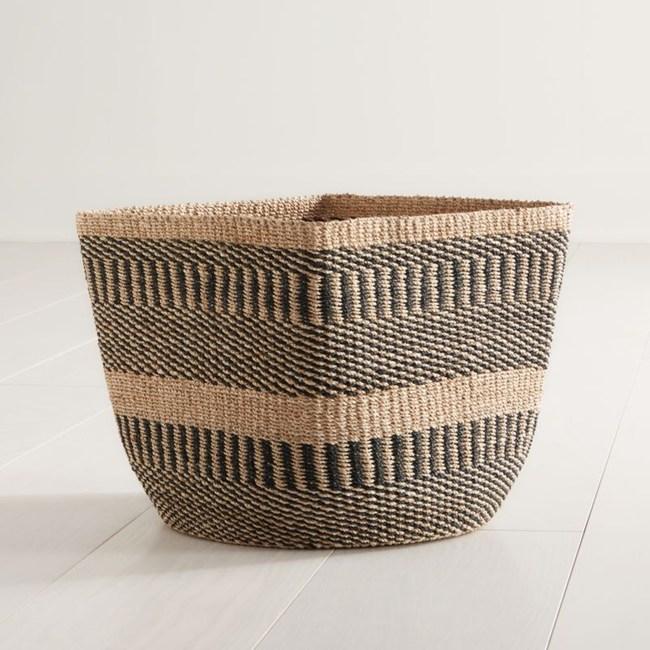 Crate&Barrel Briget 編織籃(L)