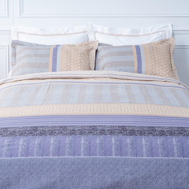 (組)芳妍純棉床包兩用被組+萊恩純棉床包兩用被組