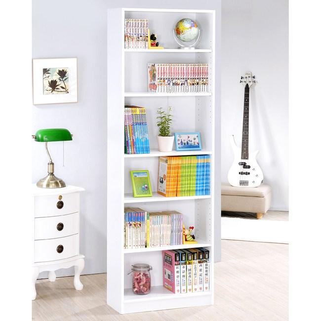 【Hopma】高六格書櫃/收納櫃-時尚白