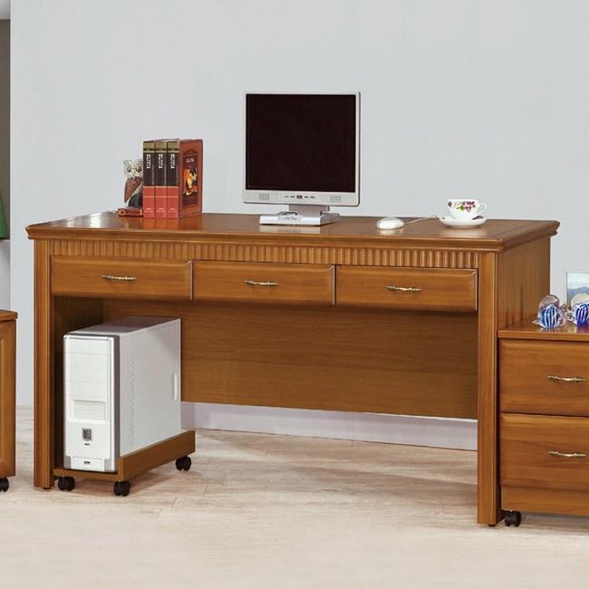 【YFS】多莉絲5尺三抽書桌-152x57x82cm