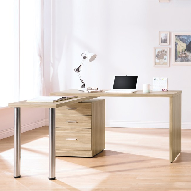 【YFS】羅莎4.8尺旋轉功能桌-145.5x60x78cm