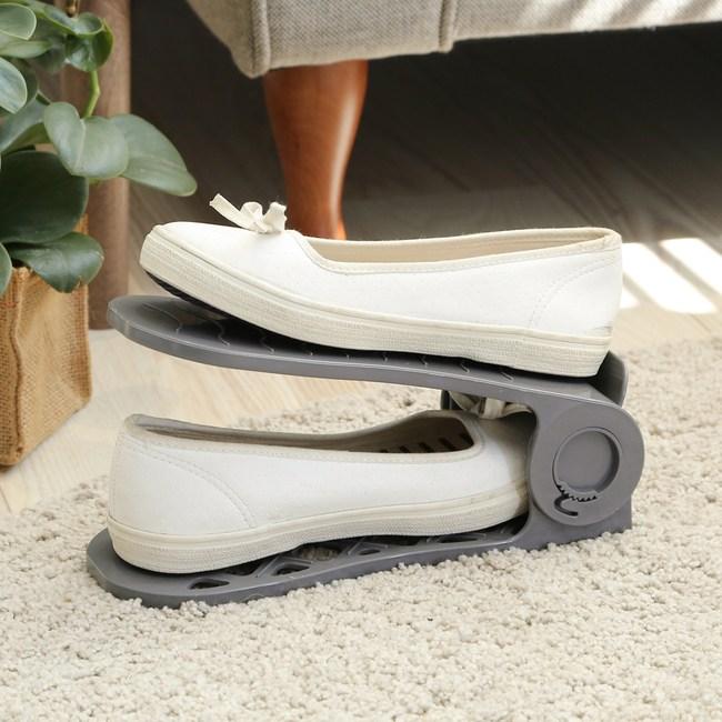 可調式專利調整收納鞋架60入(顏色隨機)鞋架60入