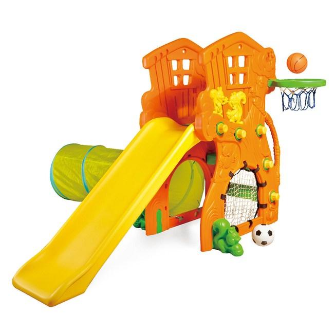 親親 樹屋溜滑梯+籃球+足球+隧道 SL-17