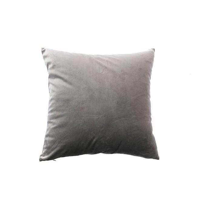 荷蘭絨素色抱枕套45x45cm-灰