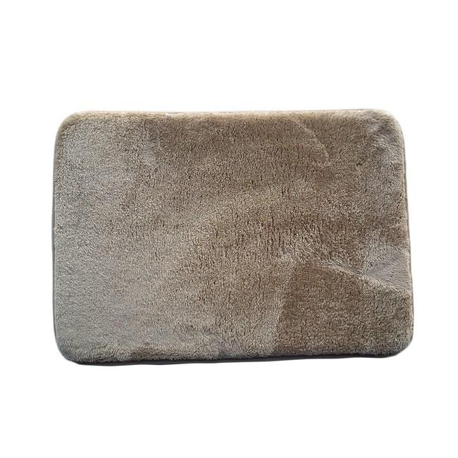 T HOUSE吸水快乾直立棉踏墊43x61cm艾倫駝色