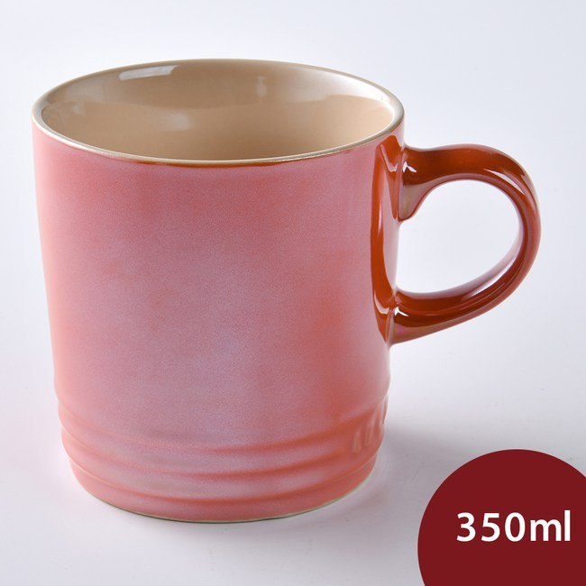 Le Creuset 馬克杯 350ml 金屬火焰橘