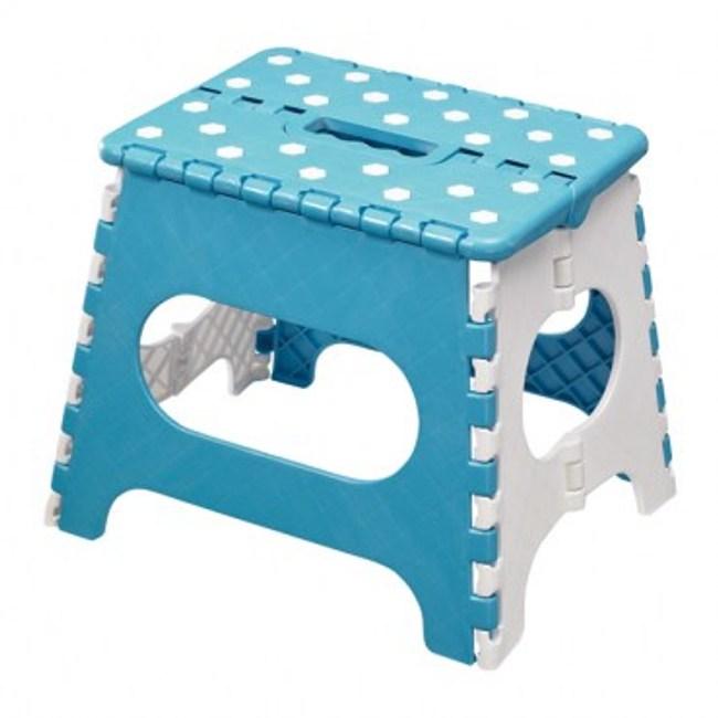 Rich Well 花樣折疊椅 29x22x27cm 圓點藍白