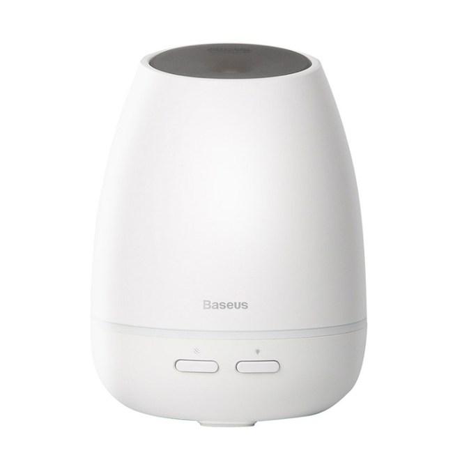 Baseus倍思 白米果香薰機 USB香氛機 七彩小夜燈 氛圍燈 白色