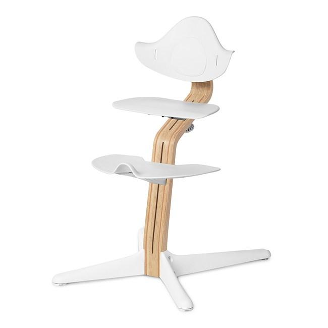 丹麥nomi 多階段兒童成長學習調節椅餐椅經典組-白白色