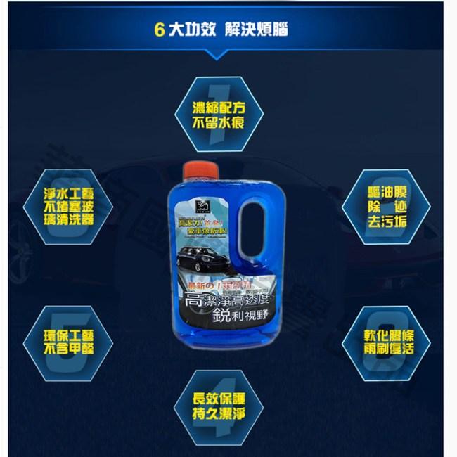 【威力鯨車神】日本進口 高透度防霧去油膜 汽車濃縮雨刷精1000ml_