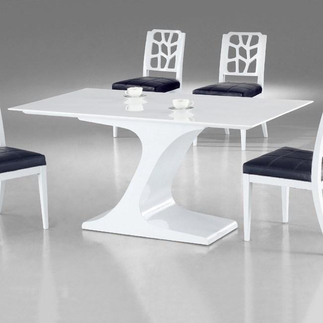 【YFS】克萊斯水晶白石面6尺餐桌-180x90x75cm