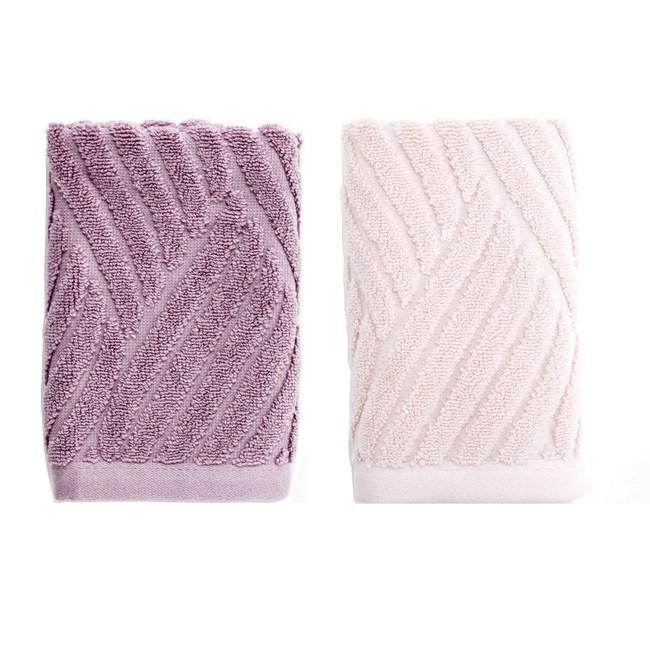 (組)葡萄牙純棉方巾33*33-流動粉*1+流動紫*1