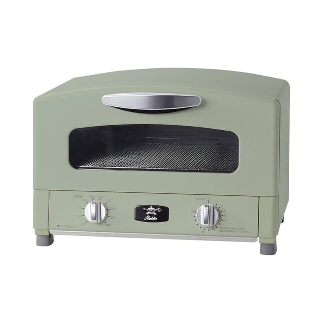 Sengoku Aladdin千石阿拉丁「專利0.2秒瞬熱」烤箱-綠*贈送保溫瓶