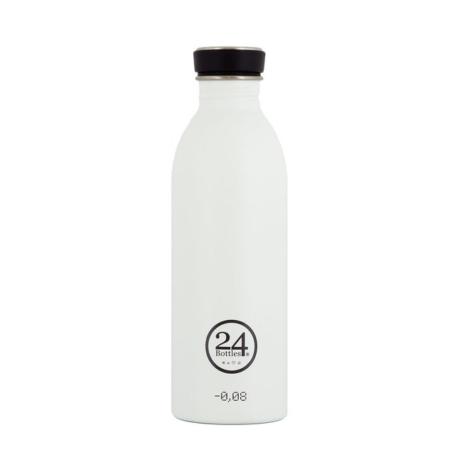 義大利 24Bottles 城市水瓶500ml - 冰雪白