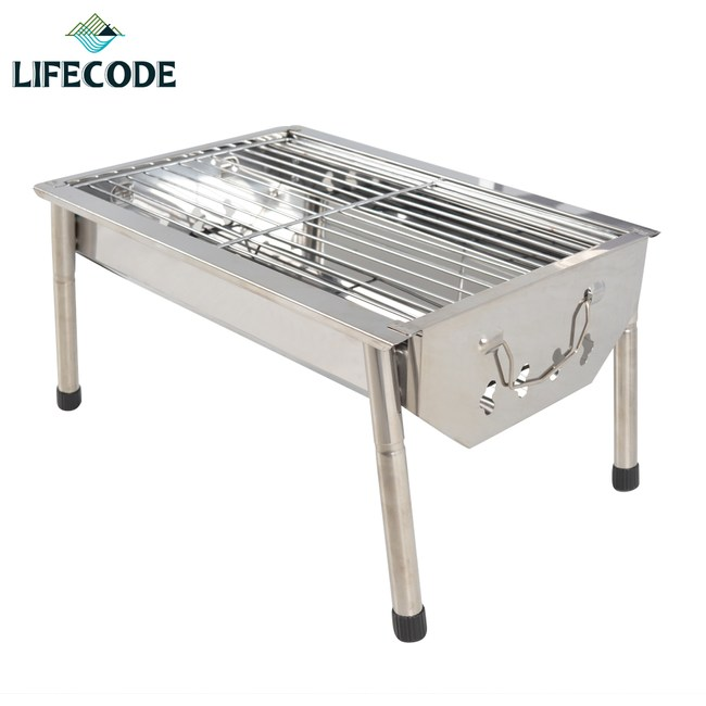 LIFECODE 不鏽鋼小型烤肉架(可搭配燒烤桌使用)