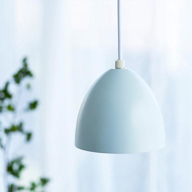 [日本 愛媛家居EHM]MUNA 簡約柔和蛋形曲線吊燈~淺藍色