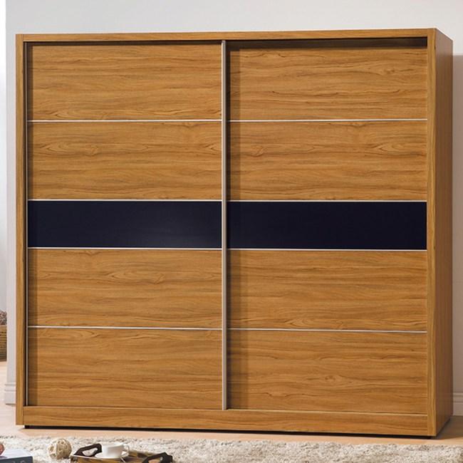 【YFS】拜倫7尺淺柚木衣櫃-212x60.5x197cm