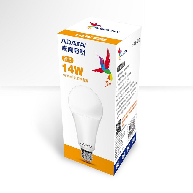 ADATA威剛 14W 高效能LED球泡燈-黃光(6入)AL-BUA22C2-14W30C