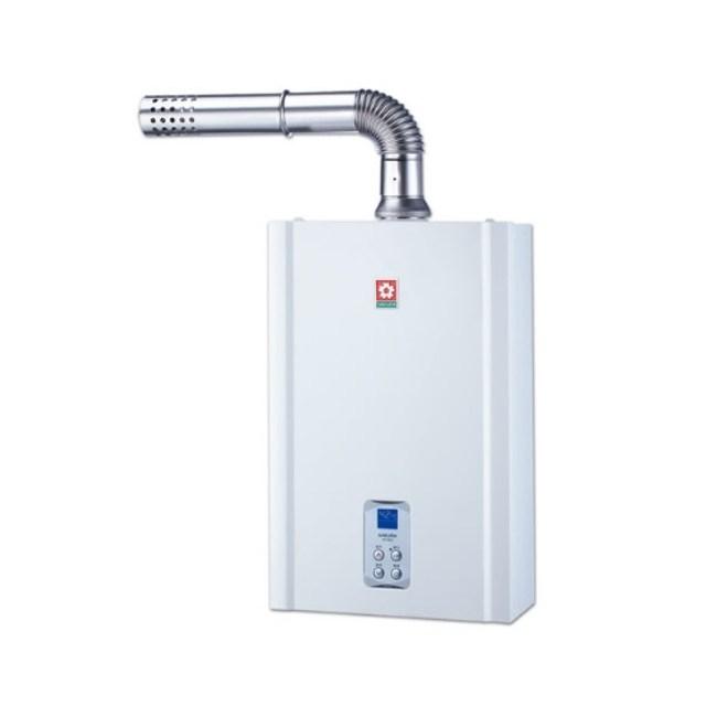 櫻花16公升強制排氣(SH1635)熱水器數位式SH-1635