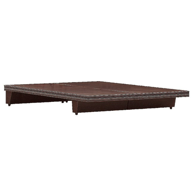 【YFS】大衛5尺胡桃床底-152x188x24.5cm