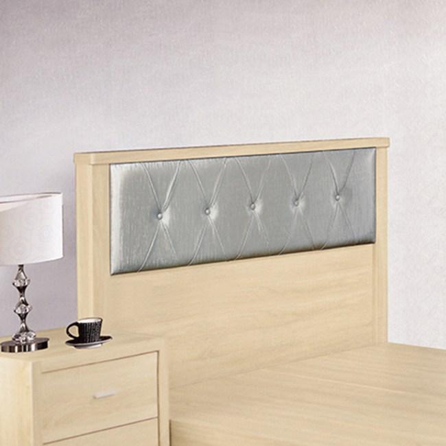 【YFS】塞西爾5尺原切橡木床頭片-153x7.5x93cm