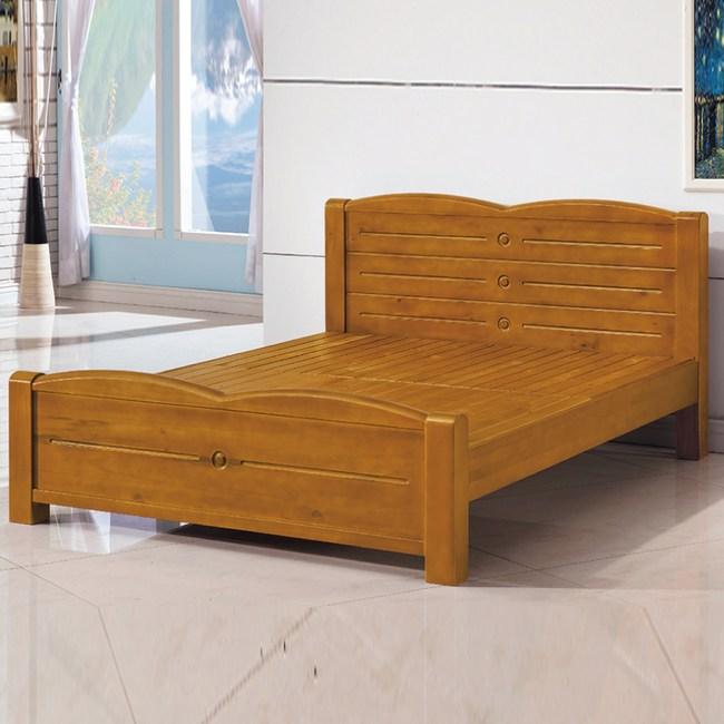【YFS】愛曼紐6尺全實木床台-185x206.5x93cm