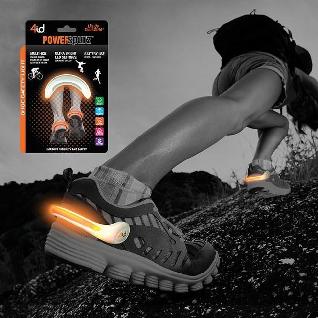 4ID PowerSpurz LED 運動發光鞋燈 (橘)