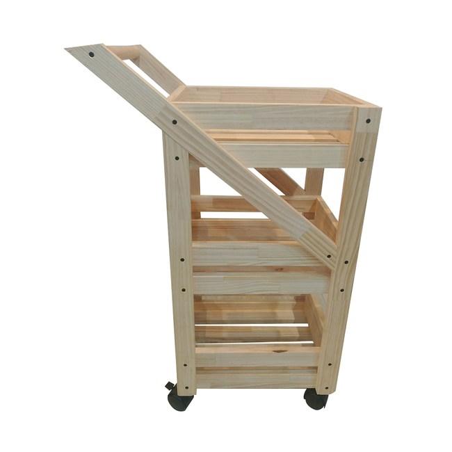 DIY材料包-松木三層收納手推車