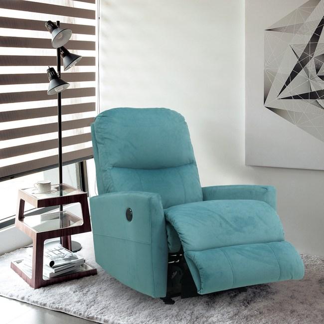 【La-Z-Boy】單人沙發/電動式單人布沙發18P525(北歐藍)