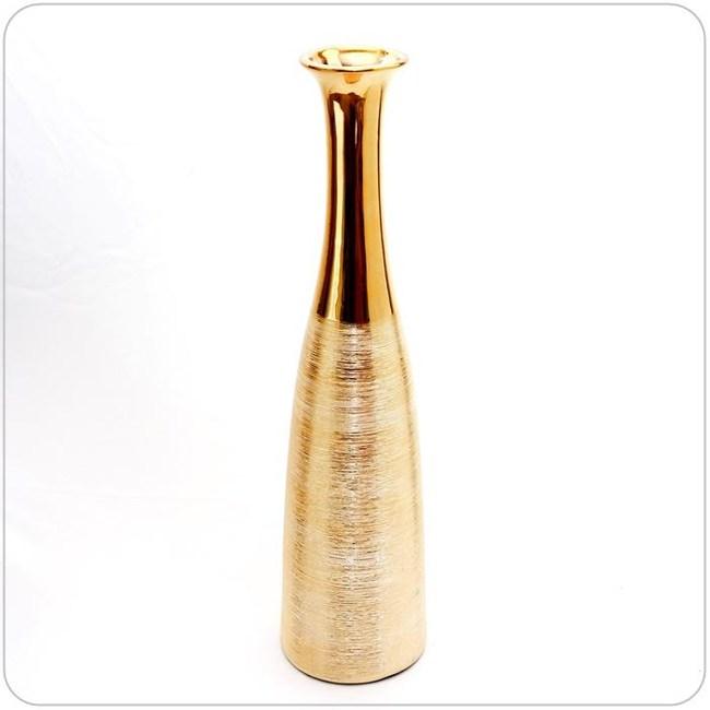 HONEY COMB 陶瓷鍍金髮絲紋花器 FB287
