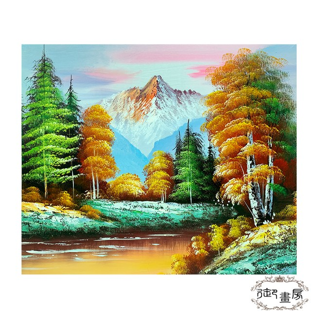 御畫房 手繪無框油畫-春色滿園 50x60cm