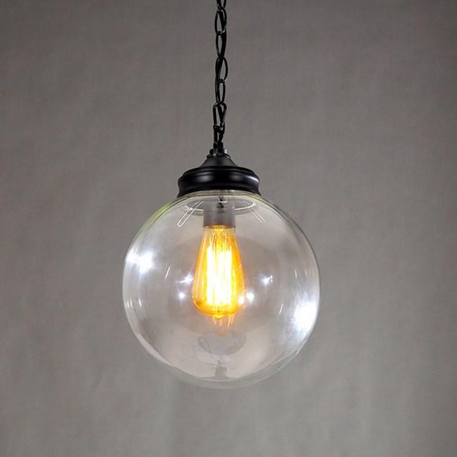 【光的魔法師】北歐美式新時代 清光玻璃球吊燈(直徑25公分)