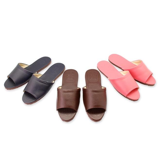 素雅壓紋皮拖鞋-6雙(任選)