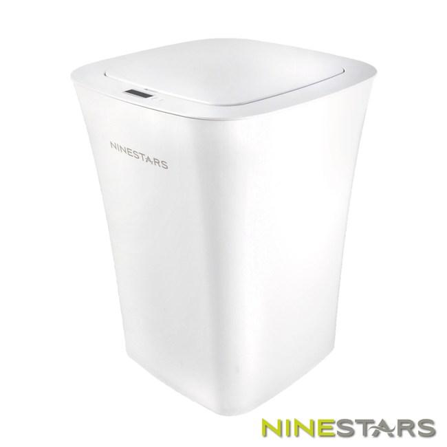 美國NINESTARS曲線型防水感應垃圾桶10L DZT-10-11S