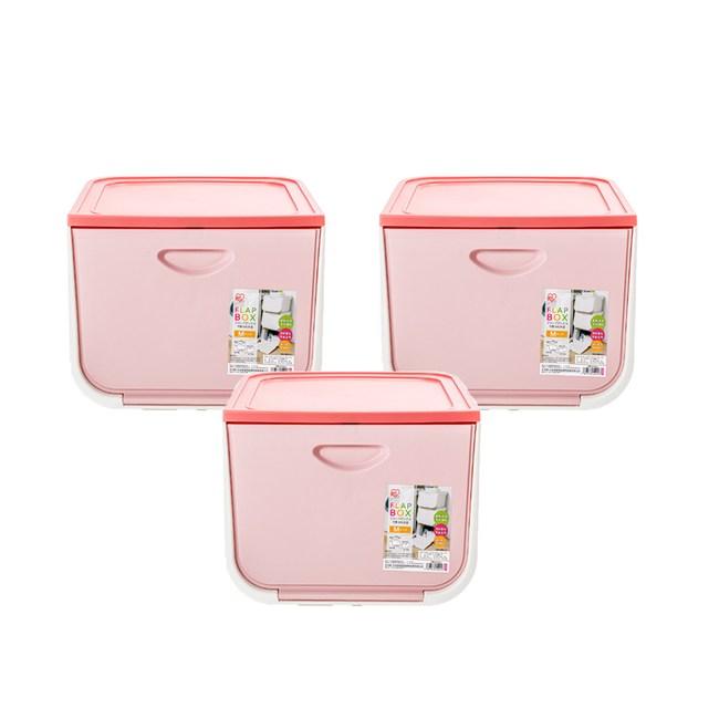 (組)日本IRIS 磁吸整理箱粉M寬38X深42X高31.3cm-3入