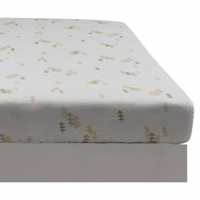 童趣森林木棉絲防蟎抗菌床包 單人