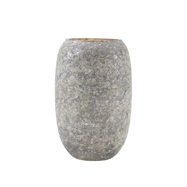 丹麥House doctor北歐玻璃花瓶-霧灰-15CM